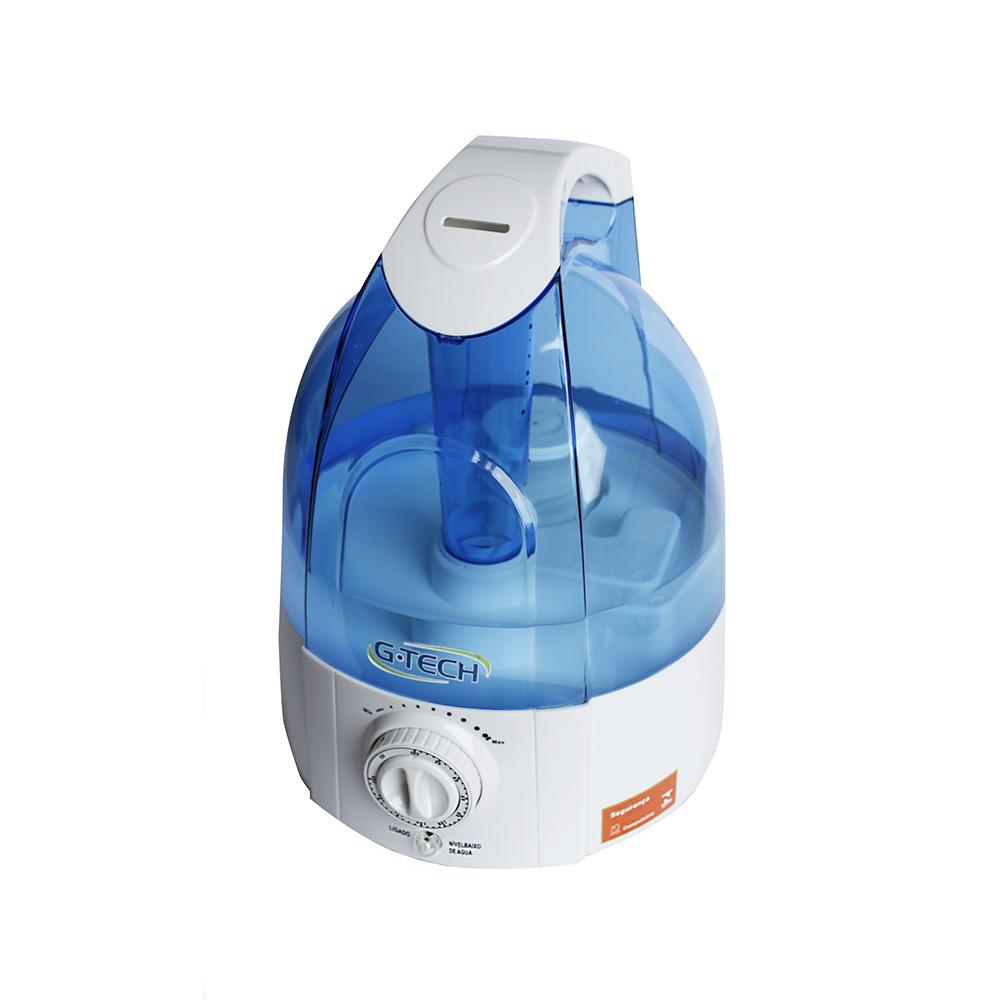 Umidificador ultrassônico com ionizador Allergy Free Timer G-Tech